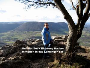 Von der Teck Richtung Rauber, Blick in das Lenninger Tal